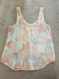 White and pink floral tank top Calgary, T2X 0G5