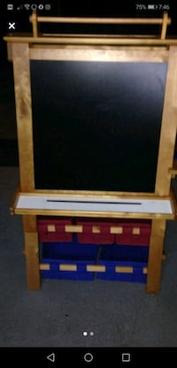 Kids drawing board. With storage containers . Chalk , marker board.