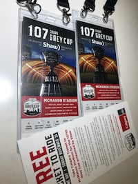 2 x Grey Cup Tickets