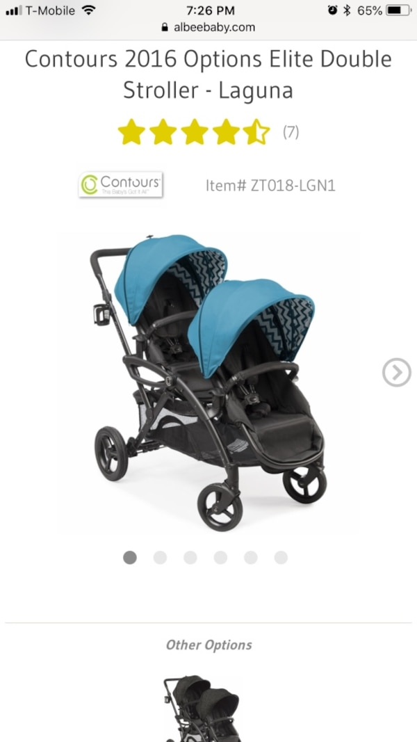 Double stroller convertible and Options Elite original price $399 0