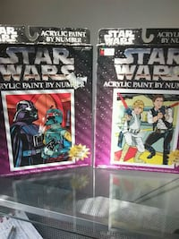 1996 Starwars  paint by  numbers sets