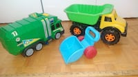 Dupm truck and playground cars - as is