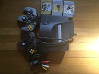 Nintendo 64 with 2 controllers and 3 games  Morris Plains, 07950