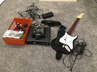 Xbox 360s with 6 games, kinect, guitar hero and 250gb drive