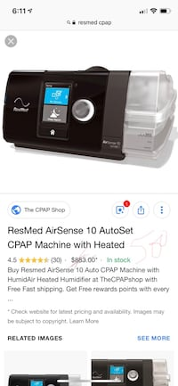 ResMed AirSence 10, brand new CPAP Ashburn, 20148