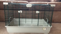 Black and white pet cage