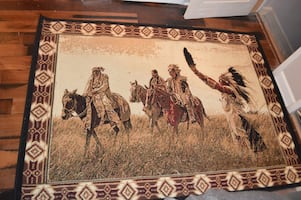 Native American Themed Area Rug 5'3x7'2