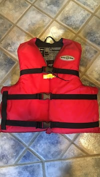 Red and black life vest North Vancouver, V7M 1G1