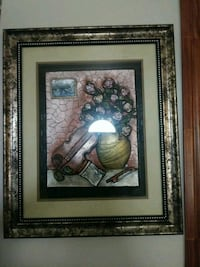 brown wooden framed painting of white flower Dallas, 75204