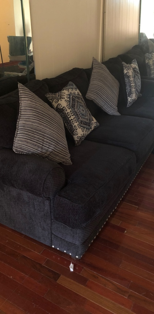 Navy couch less than year old
