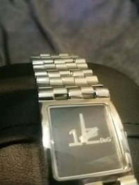 square silver analog watch with link bracelet Coquitlam, V3K 2R4