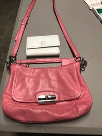 Pink Coach leather purse and Coach white  Hollister, 95023