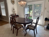 Dining table and chairs - bought at $2800 Harrington Park, 07640
