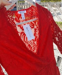 Red Lace Dress  Ytre Enebakk