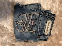 Rock revival size 27 boot cut I have  3 more pairs in this size will sell for 50 per jeans if u buy more than one. See my other listing if interested.  1300 km