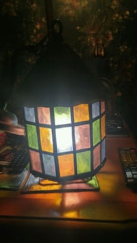 Antique stained glass porch light Calgary, T2B 2V4