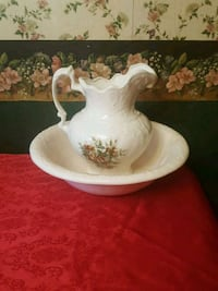 white ceramic floral pitcher with basin Markham, L6B 1A8