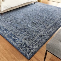 New 9' X 12' Utterback Dark Blue Area Rug