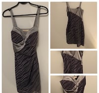 Ana Pires Milano (Italian Designer) - Grey Bustier Dress in Size 38 (women's XS or size 0/2 or equivalent) Edmonton, T6W 3R8