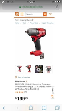 red and black cordless impact wrench San Leandro, 94578