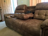 Sofa with 2 a/c ,2 charger outlet,both sides recliner ,arms have storage Essex, 21221