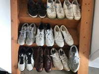 10 pair of used Men's shoes. Sizes 12 and 13. Some in good condition, some aren't.