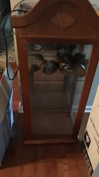 brown wooden framed glass display cabinet Clarksville, 37040
