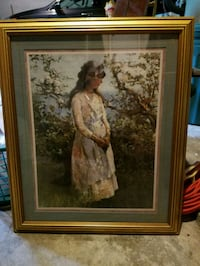 brown wooden framed painting of woman East Ridge, 37412
