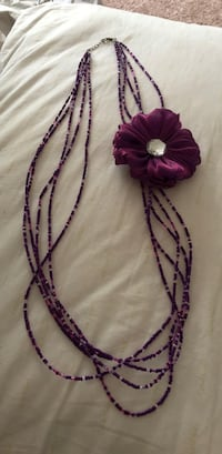 Purple necklace with flower  Hanahan, 29410