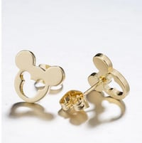 Stainless Steel Mickey Stud Earrings for Women Gir Rockville