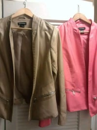 red and tan leather women's jackets  Washington, 20032