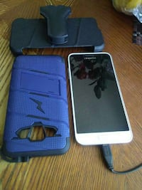 white Samsung Android smartphone with blue phone case El Cajon, 92021