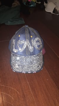 soft denim hat with rhinestones     Vaughan, L4J 9K9