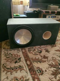 Eclipse 15 inch rare subwoofer with huge ported box