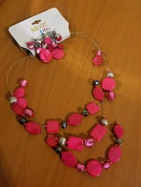 Mixit pink necklace
