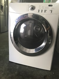 White front-load clothes washer and dryer 2n1
