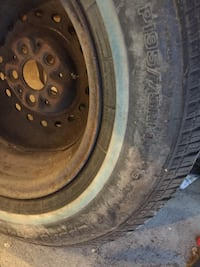 Car tires brand new with rim just been sitting Winnipeg, R2C 0X1