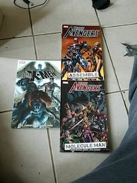 3 Marvel graphic novels dark series