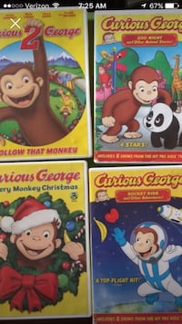 4 curious George DVD movies  Selden, 11784