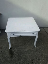 white wooden 2-tier table