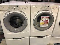 Whirlpool duet sport front load washer and electric dryer on pedestals, excellent condition, large capacity, stainless steel drum, asking $1200.00 or best offer Anderson, 96007