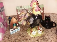 black and yellow rooster figurine Weslaco, 78596