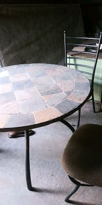 Slate table 4 chairs +
