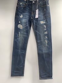 J0012 Guess Slim Tapered Cut Destroyed Mens Jeans 31x32 Vancouver, V6H 4H8