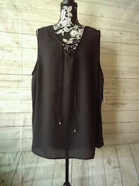 New Lace Up Tank , size 2X ... Frederick