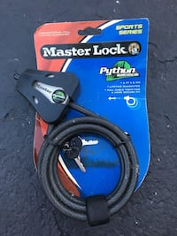 Black Master lock bicycle lock