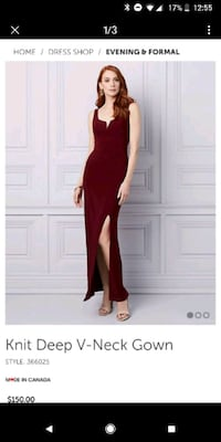 Large maroon le chateau dress  London, N6K 1M2