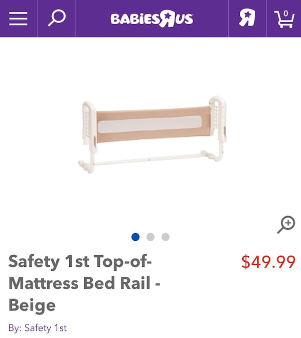 Top of the mattress Bed Rail - Pink 5