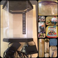 Two small tanks(2g & 0.5 g) & 12 aquarium related items lot(see below for details)...xpost 3747 km