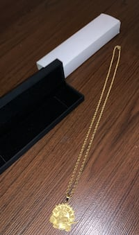 Solid real 10K gold rope chain with raptors pendant  Brampton, L6R 2C3